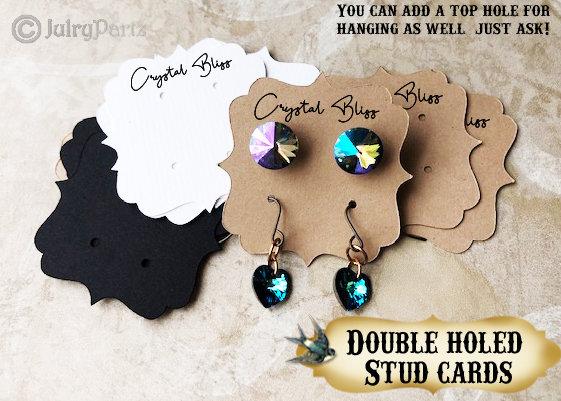 60•2 x 2 Ornate•EARRING Cards•Jewelry Card•Post Earring Card•STUD 5