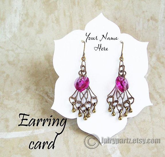 BLOSSOM•Earring Cards•Jewelry Cards•Necklace Card•Earring Display•Ea