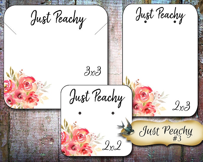 60•JUST PEACHY #3•Necklace Card•Earring Cards•Jewelry Cards•Display Car