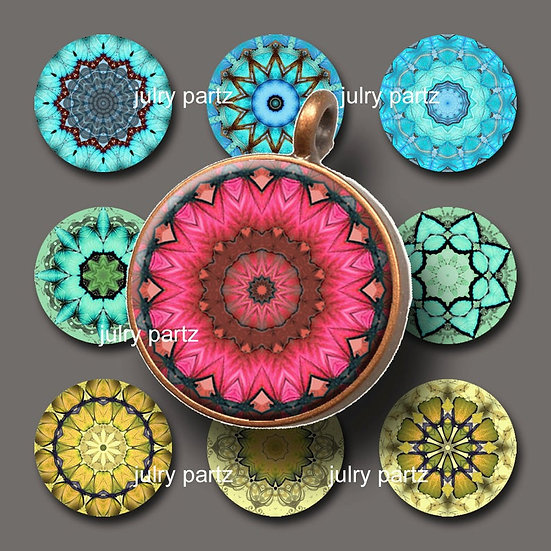 CHAKRAS •1x1 Circle Images•Printable Digital Images•Mandala