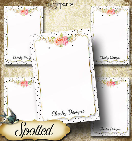 SPOTTED•Custom Cards•Labels•Earring Display•Clothing Tags
