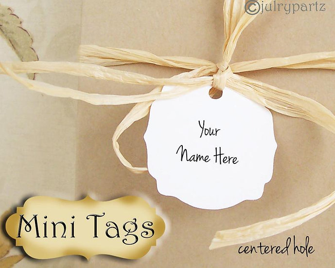 30•MINI TAGS #7 • 1.5 X 1.5 inch•Necklace Tags•Bracelet Tags•Price Tags