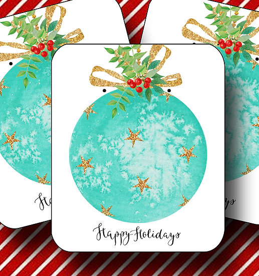 HOLIDAY•Earring Cards•Holiday Tags•Holiday Labels•ORNAMENT 6