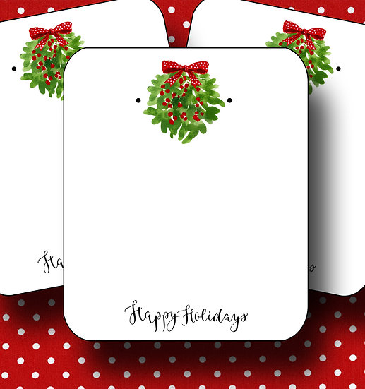 HOLIDAY•Earring Cards•Holiday Tags•Holiday Labels•MISTLETOE 1