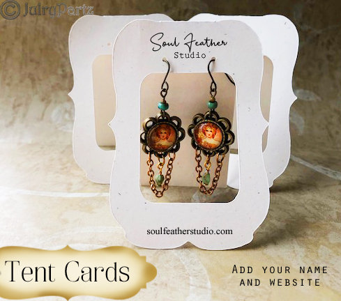 36•ZOE Window•2.5 x 3.5 inch•Tent Cards•EARRING CARDS•Jewelry Cards