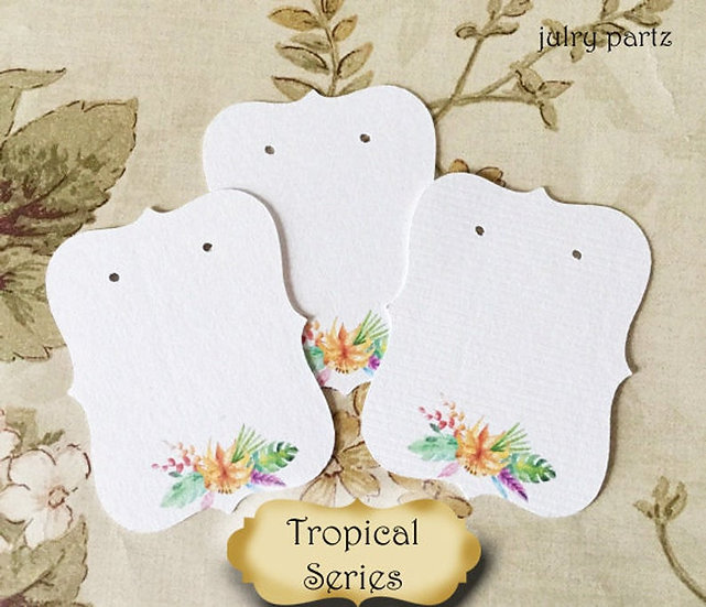 64•Tropical Floral•Earring Cards•Jewelry Cards•Earring Display•Earring Holder