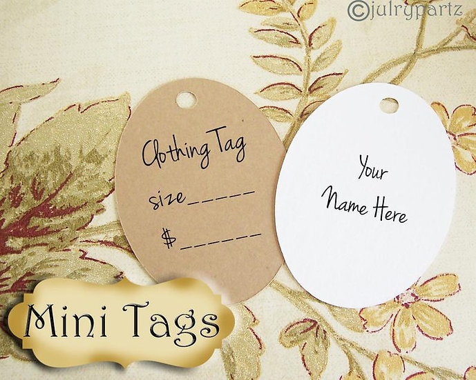25•MINI TAGS #11• 1.5 X 2 inch•Necklace Tags•Bracelet Tags•Price Tags
