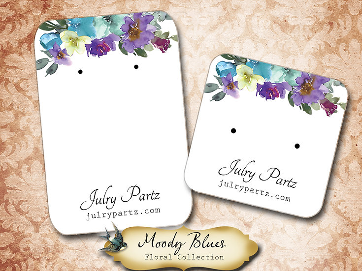 MOODY BLUES •Necklace Card• Earring Cards •Jewelry Cards •Display CARD