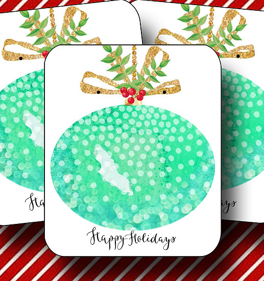 HOLIDAY•Earring Cards•Holiday Tags•Holiday Labels•ORNAMENT 2