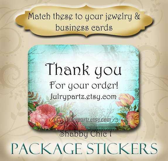 30•SHABBY Series•STICKERS•Rectangle Labels•Package Labels