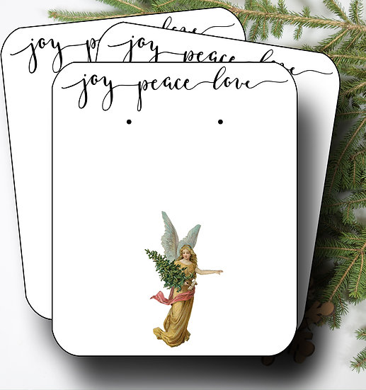 HOLIDAY•Earring Cards•Holiday Tags•Holiday Labels•ANGEL 5