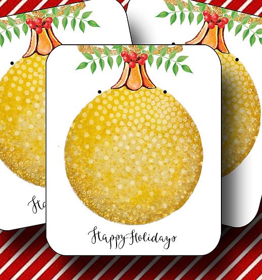 HOLIDAY•Earring Cards•Holiday Tags•Holiday Labels•ORNAMENT 3