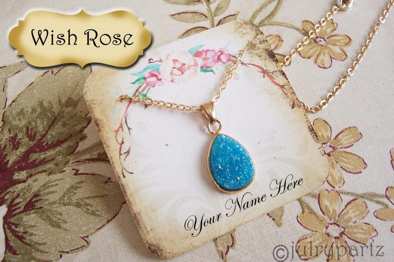 60•WISH ROSE•Necklace Card•Earring Cards•Jewelry Cards•Display Car