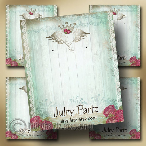 JUNK GYPSY•Custom Cards•Labels•Earring Display•Clothing Tags