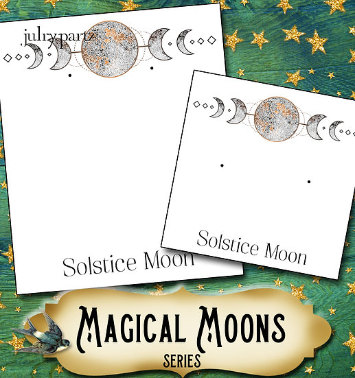 SOLSTICE MOON•Custom Cards•Labels•Earring Display•Clothing Tags