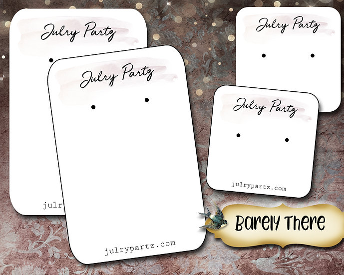 BARELY THERE•Necklace Card•Earring Cards•Jewelry Cards•Display Card