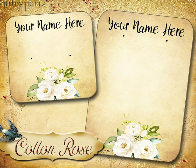 COTTON ROSE 5•Necklace Card•Earring Cards•Jewelry Cards•Display Card