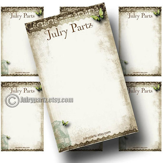BIRDCAGE•Custom Cards•Labels•Earring Display•Clothing Tags