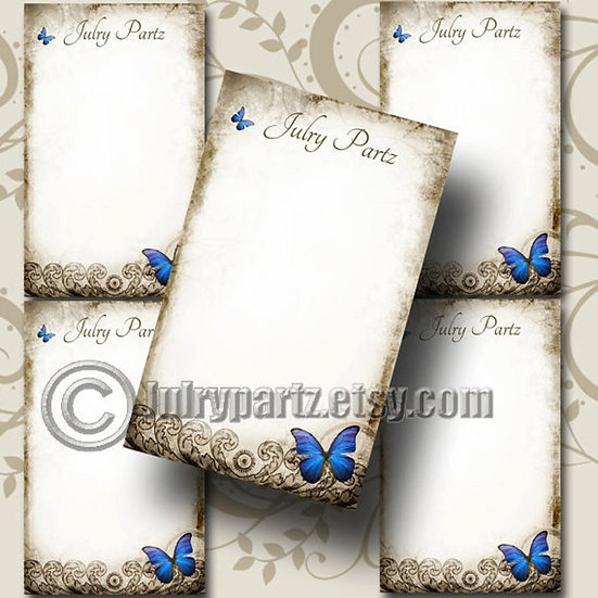 ELECTRIC BLUE•Custom Cards•Labels•Earring Display•Clothing Tags