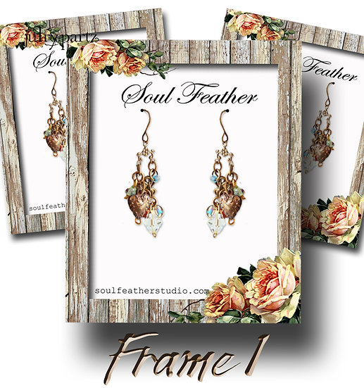 FARM HOUSE #1•Custom Cards•Labels•Earring Display•Clothing Tags