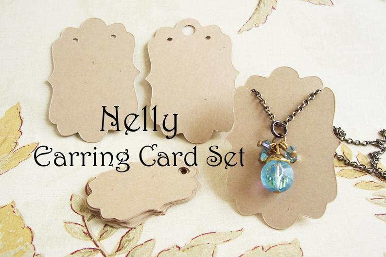 60 Long NELLY•Decorative Ear Cards•Jewelry Cards•Necklace Card•Earring