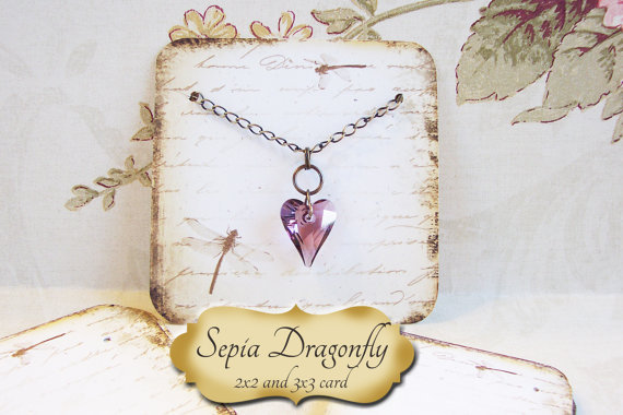 Sepia DRAGONFLY•Necklace Card•Earring Cards•Jewelry Cards•Display Card