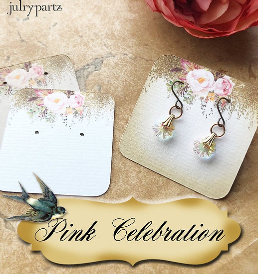 PINK CELEBRATION•Necklace Card•Earring Cards•Jewelry Cards•Display Car