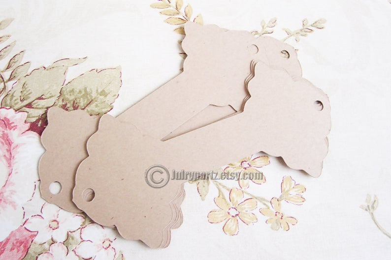 64•FLEUR•Hang tags•2.5x2.5 inch•NECKLACE HOLDERS•Fold Over Tags•Hang Tags