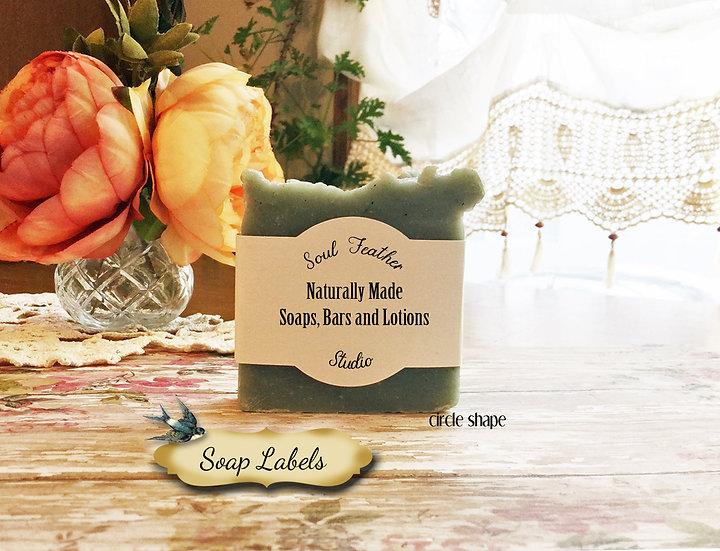 36•CIRCLE Custom SOAP Labels•Soap Packaging•Bar Soap Label•
