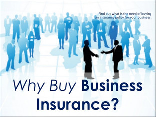 Insurance; You need to protect yourself & your business!