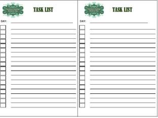 Using A Task List.