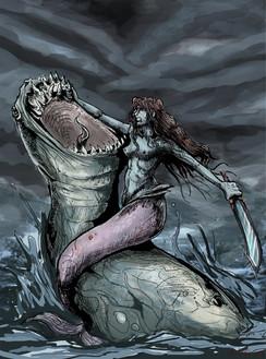 A Mermaid's battle