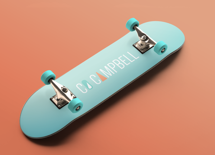Logo Design on Skateboard