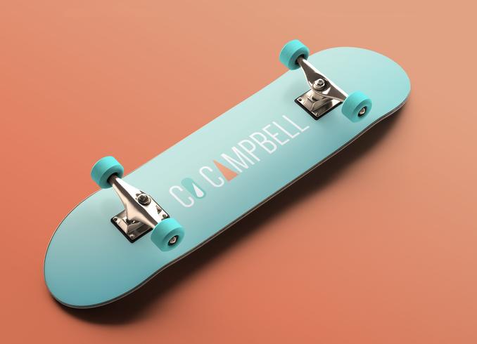 Logo Design on Skateboard