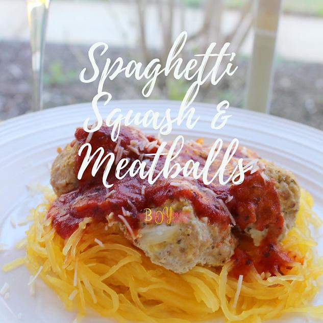 Spaghetti Squash & Meatballs