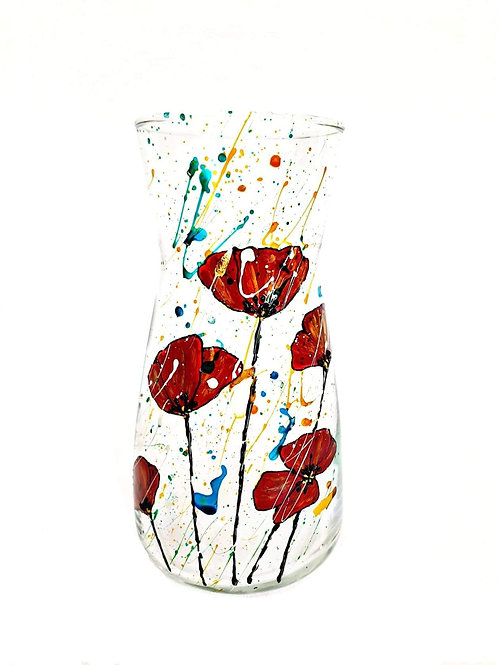 Vază pictată manual