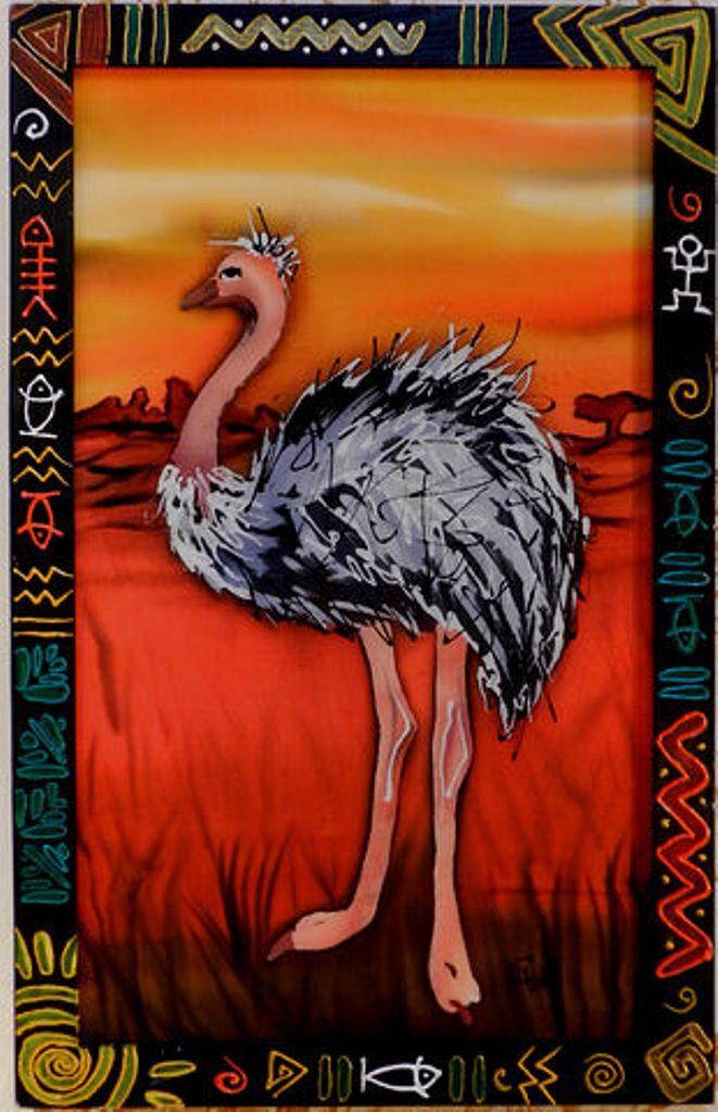 """""""Пейзаж со страусом"""". 2011 г."""