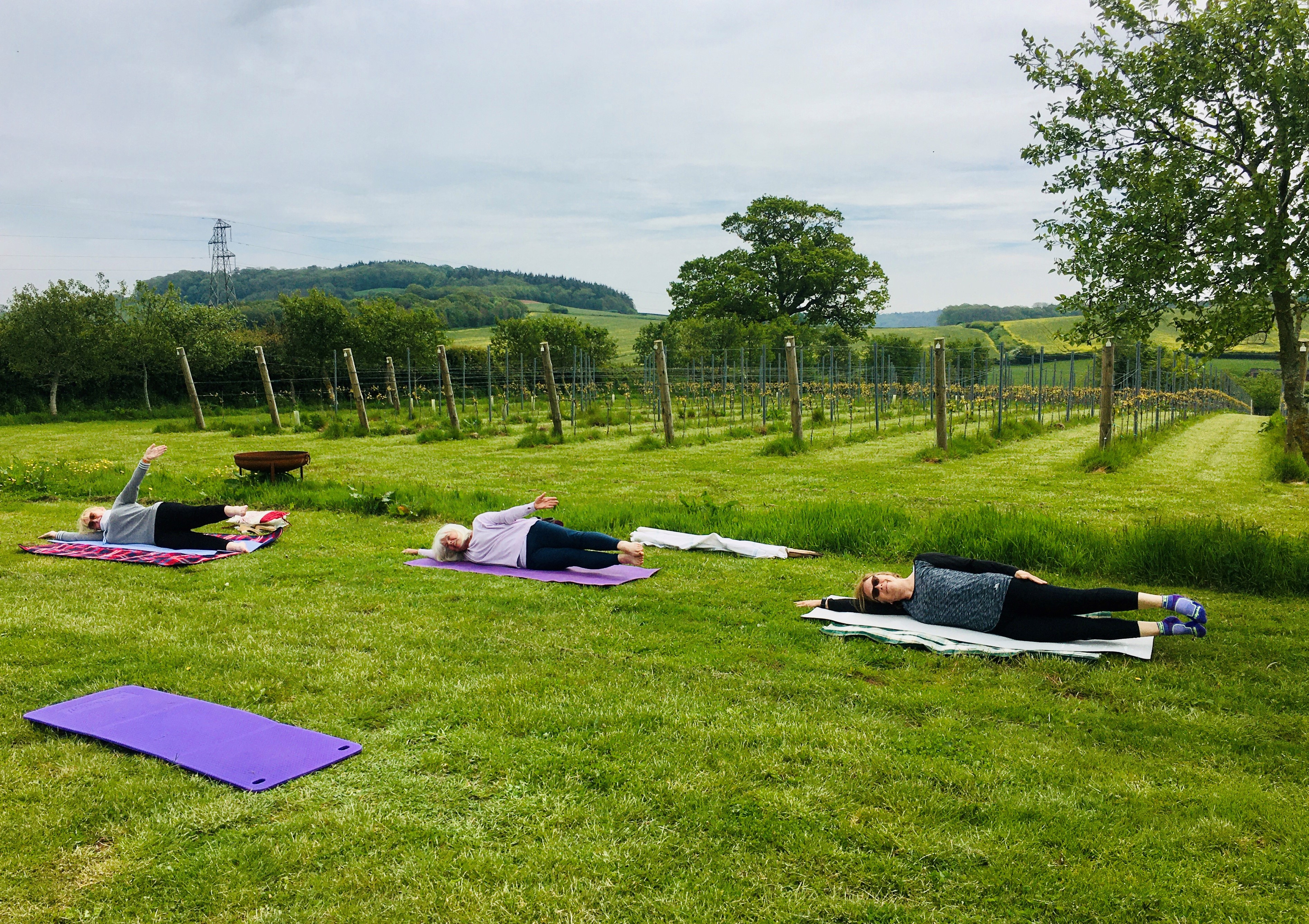 Pilates at Kenton Park Estate - Vineyard