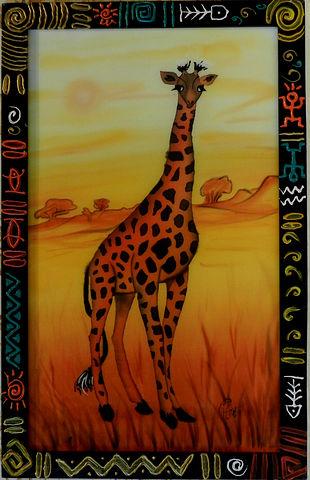 """""""Пейзаж с жирафом"""" 2011г."""