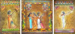 """Триптих """"Египетские музыканты"""""""
