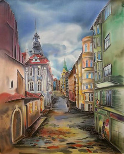 Прага. Перед дождем. 2016 г.