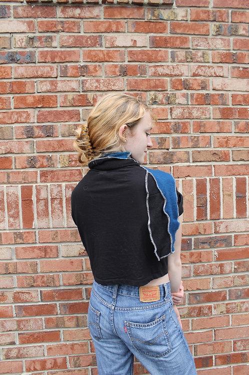 Cashmere Velvet Black and Teal