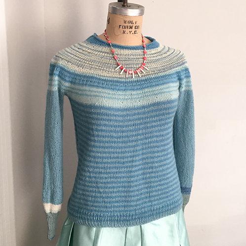 Aqua Stripes Pullover