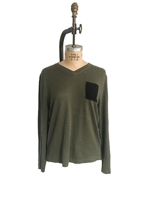 Olive Merino Black Cashmere