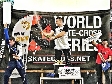 Anthony Avella 2e au World Skate Cross Series de Caen