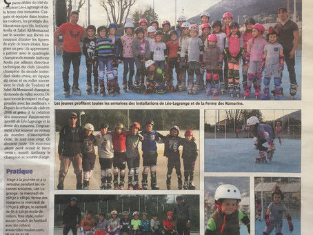 Nos patineurs dans Var-Matin!