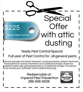Imperial Pest Prevention special coupon, Pest Control, Pest Control Company, Pest Control Daytona Beach, Pest Control Ormond Beach, Pest Control Company Daytona Beach, Pest Control Company Ormond Beach