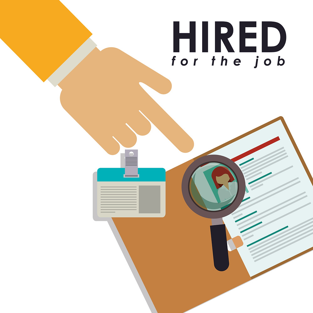 hired vector image