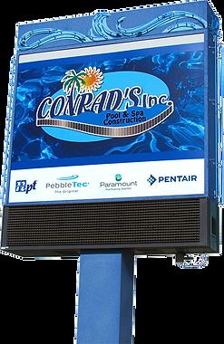 Conrad's Inc Pool & Spa Construction Sign