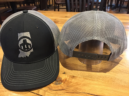 Saint Joseph Brewery GRAY Trucker Hat w/ Brewery Logo Over Indiana